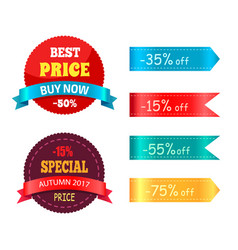 best price buy now special autumn offer percent vector image vector image