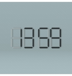 Black digital Clock vector image