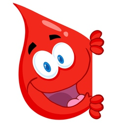 Blood Guy Smiling Around A Blank Sign vector image vector image