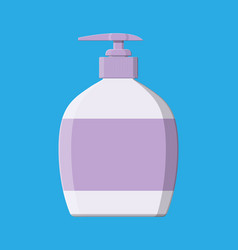 Bottle with liquid soap shower gel or shampoo vector