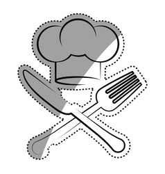 Chef hat symbol vector