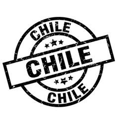 Chile black round grunge stamp vector
