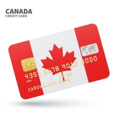Credit card with canada flag background for bank vector