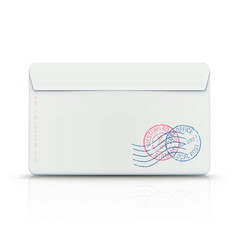 Envelope with post stamps vector