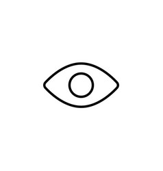 eye icon on white background vector image vector image