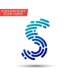Fingerprint logo font 18 vector