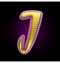 Golden and pink letter j vector