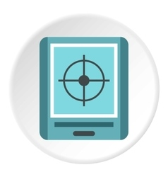 GPS navigator icon flat style vector image