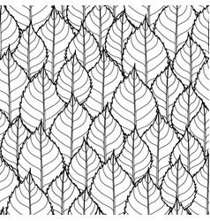 graphic leaves pattern vector image vector image