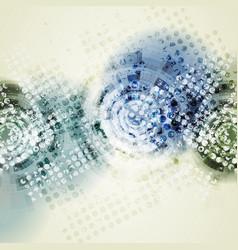 Grunge geometric technology background vector