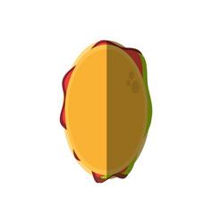 Hamburger food unhealthy picnic shadow vector