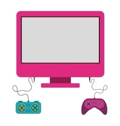 Isolated gamepad and computer design vector