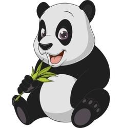 Little funny bear panda vector image vector image