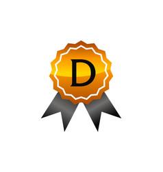 Logo quality letter d vector