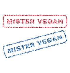 Mister vegan textile stamps vector