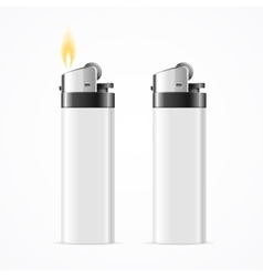 Realistic Template Blank White Lighter vector image vector image