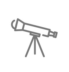 Simple telescope line icon symbol and sign vector