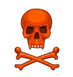 skull and crossbones cartoon vector image vector image