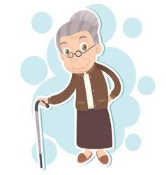 smiling old woman vector image vector image