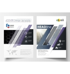 Templates for brochure magazine flyer or report vector