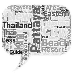 Travel guide of pattaya text background wordcloud vector