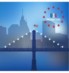 usa design over lineal background vector image vector image