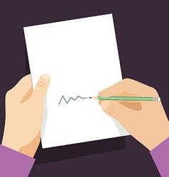 Writing man vector image vector image