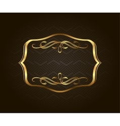 Blank golden vintage frame banner label vector