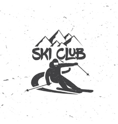 Ski club concept with skier vector