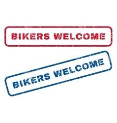 Bikers welcome rubber stamps vector