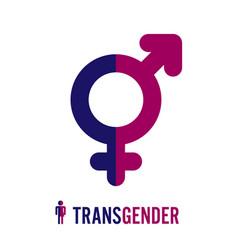transgender icon symbol combining gender symbols vector image