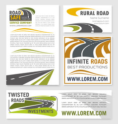 Banners for road construction investment vector