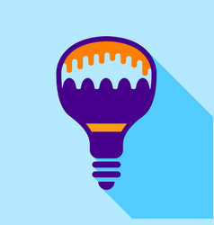 colorful electric bulb icon flat style vector image