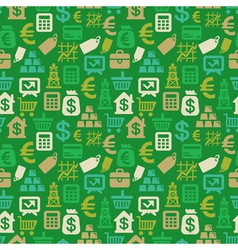 Seamless pattern with finance icons vector
