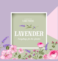 Awesome lavender label vector