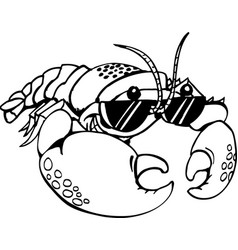 Dh00013 lobster vector