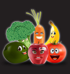 Fruits veggies collection 2 vector