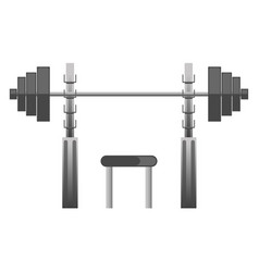 gym or fitness sport club chest press machine vector image