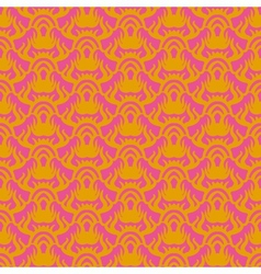 Indian pattern in pink and gold vector