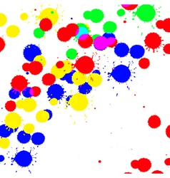 Color drop ink splatter vector