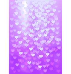 Purple festive lights in heart shape background vector