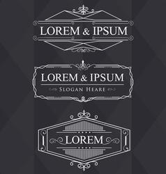 Luxury flourishes calligraphic elegant ornament vector