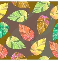 Seamless texture of leaves vector