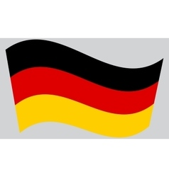Flag of germany waving vector