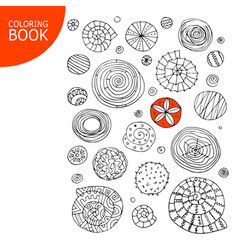 Abstract spirals and circles sketch for your vector