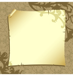 background with old paper vector image
