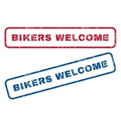 Bikers welcome rubber stamps vector