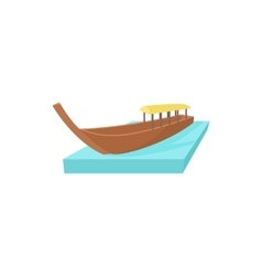 Boat icon in cartoon style vector
