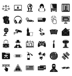Bomb icons set simple style vector