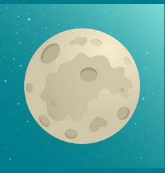 Cartoon of the moon vector